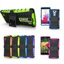 Rugged Armor Hybrid Impact Shockproof Kickstand Protector Case Cover For LG