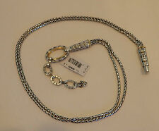Brighton New Silver and Gold Plated Chain Belt   Size M   NWT  BR9657