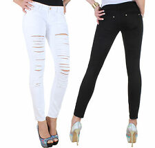 Women's Jeans Trousers Stretch Skinny Pants Hipster Tube Low-rise 5j