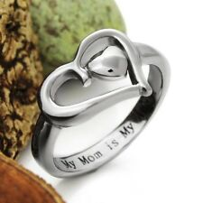 Mothers Heart Ring Mother Ring Gift For Mother - My Mom is My Angel, Mother Daug