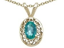 Oval 6x4mm Emerald Pendant Necklace