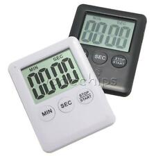 New Large LCD Display Digital Kitchen Timer Count Down Up Clock Loud Alarm