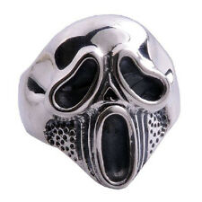 Hard Core Screaming Skull Ring .925 Silver Jewelry for Men SZ15-1348