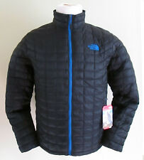NWT THE NORTH FACE MEN'S THERMOBALL FULL ZIP JACKET TNF Black/ Monster Blue
