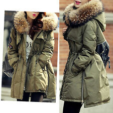 Women Warm Hooded Real Duck Down Fashion Ladies Winter Parka Coat Jacket
