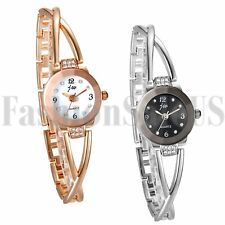 Fashion Women's Ladies Luxury Bracelet Rhinestone Dial Analog Quartz Wrist Watch