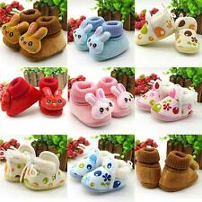 Toddler Newborn Infant Baby Boy Girls Snow Boots Soft Sole Crib Shoes Prewalkers