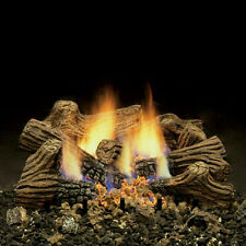 "Monessen Charred Timber Ventless Gas Logs -W/ Remote-18, 24 or 30"" - NG or LP"