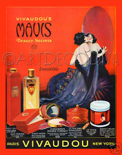 VTG 1920's Red Beauty Bath Bedroom Glamour WOMAN Makeup Lipstick Fine Art Print