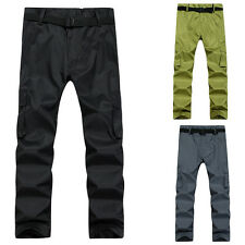 Winter Outdoor Waterproof Warm Long Pants Men's Climbing Hiking Camping Trousers
