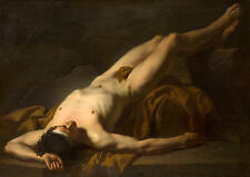 Oil Painting repro  Jacques-Louis David Hector's body