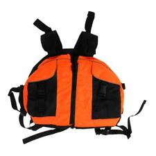 Canoe Kayaking Boating Rafting Life Jackets Floating Vest Blue/Orange