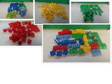 duplo selection of bricks, red yellow green mixed lot, set with figures choose