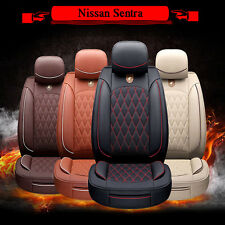 All Weather Main Seat Pad Chair Cover W78t Car PU Leather Mats For Nissan Sentra