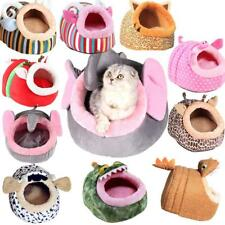 Soft Animal Design Pet Dog Cat Bed House Kennel Doggy Fashion Cushion Pad S-L