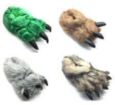 NEW Mens Womens Novelty Monster Claw Animal Slippers All Sizes