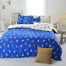 Blue Horse Twin Double Queen King Bed Set Pillowcases Quilt Duvet Cover Ous