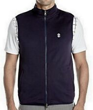 IZOD GOLF On The Course Reversible Navy Blue Coral Full Zip Vest NEW Mens M L XL
