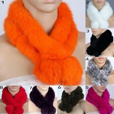 Real Rabbit Fur Women Scarf Cape Scarves Winter wrap shawl Stole warm winter