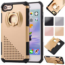 Fashion Rotating Ring Holder Shockproof Stand Case Armor Cover For New iPhone 7