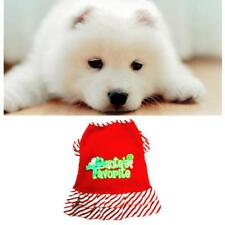 Lovely Christmas Clothes Pet Dog Costume Apparel Strip Dress Skirt Xmas Outfit