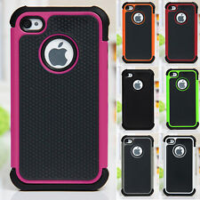Shock Proof Hybrid Builder Cover Hard Silicone Skin Case for iPhone 4/4S 5/5S