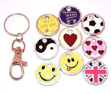 ONE POUND COIN TOKEN KEYRING SHOPPING TROLLEY LOCKER SHOPPING TROLLEY KEYRING
