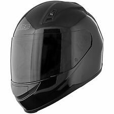 SPEED AND STRENGTH SS700 Solid Speed Motorcycle Helmet Gloss Black New clear