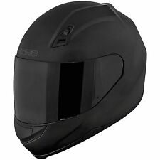 SPEED AND STRENGTH SS700 Solid Speed Motorcycle Helmet Matte Black New clear