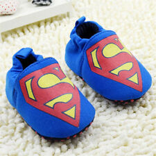 superman Infant Baby Boy Crib Shoes slippers Size 0-6 6-12 12-18 Months