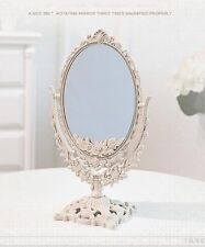 Double Sided Ornate Freestanding Mirror Dressing Table Mirror Vanity Mirror