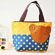 Bear Lunch Box Storage Bag Picnic Pouch Carry Tote