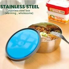 Round Stainless Steel Lunch Box Bento Box Food Container