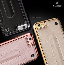 Luxury Slim Genuine Leather Hard Stand Back Case Cover For iPone 7 7 plus 6s