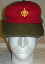 Boy Scouts BSA Twill S/M Snapback Ball Cap Hat Green Red Yellow Made In USA