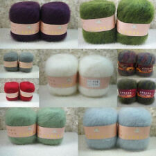 Wholesale! Luxury Angola Mohair Cashmere Wool Yarn Skein Lot Fine Multi Colors!