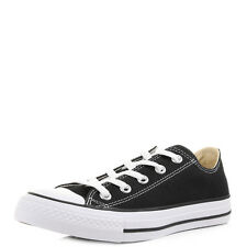 Mens Womens Unisex Converse All Star OX Black Canvas Trainers Size