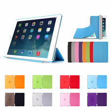 Slim Smart Magnetic Leather+Back Plastic Cover For Apple iPad 2/3/4 Air 2 Mini 4
