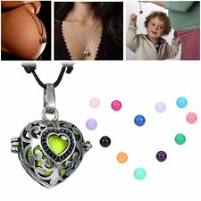 NEW Heart Locket Pendant Pregnancy Necklace Bell Ball Charms Bead