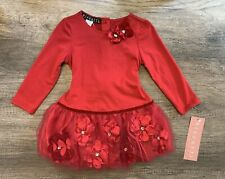 Biscotti Pocket Full of Poises Baby Girl Holiday Dress ~ Size 12-24M  NWT