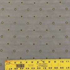 Lagoon Greenish Blue with Gold Bubble Polkadots Woven Upholstery Drapery Fabric