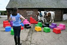 1-STEP MOUNTING BLOCK PREMIUM - Aid to Mount or Plait yr horse Classic ShowJumps