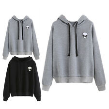 NEW Women Long Sleeve Hoodie Sweatshirt Alien Print Pullover Jumper Sweater Tops