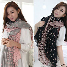 Hot Ladies Women Fashion Long Soft Chiffon Scarf Wrap Shawl Stole Scarves Gifts