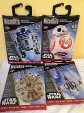"""STAR WARS MICRO KITES 6.5"""" TALL MINI MYLAR CHARACTERS PICK YOUR FAVORITE From 4"""