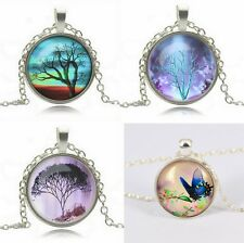 Necklace, pendant, cabochon tree of life, tree of life Fashion trendy Ref C0