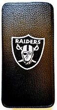 Woodys Originals Inc. Oakland Raiders Leather Sport Team Cell Phone Cases