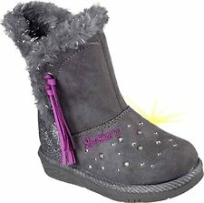 Toddler Girl's Skechers 10668N/CCL Twinkle Toes - Glam Slam Lights Charcoal-CCL