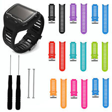 Replacement Silicone Watch Band Strap Tool for Garmin Forerunner 910XT GPS Watch