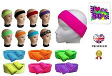 Neon Sweatband Fancy Dress Headband Wristbands 80s UV Party 1980s Fancy Dress